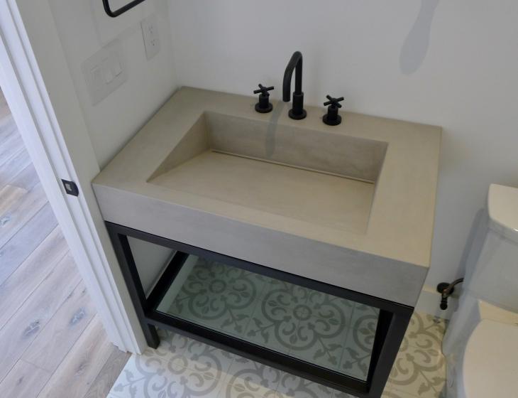 Guest house concrete sink