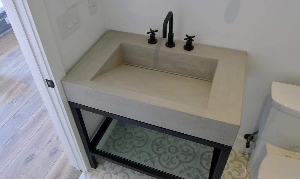 boulder modern cement sink