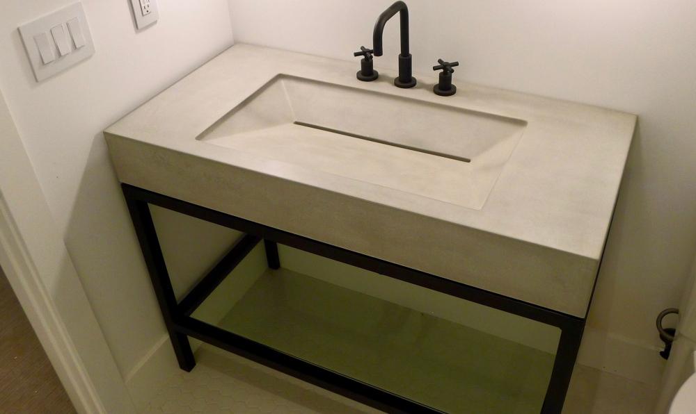 surround architecture concrete sink