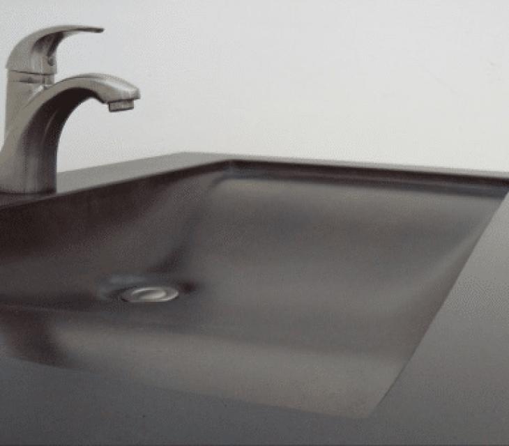 'Black Canyon' concrete sink