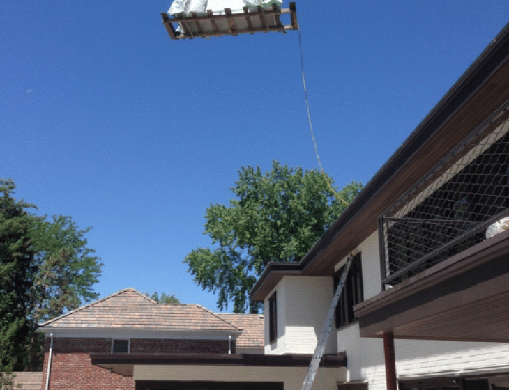 concrete firepit crane install