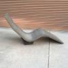 concrete lounge chair