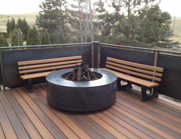5 foot diameter concrete fire pit