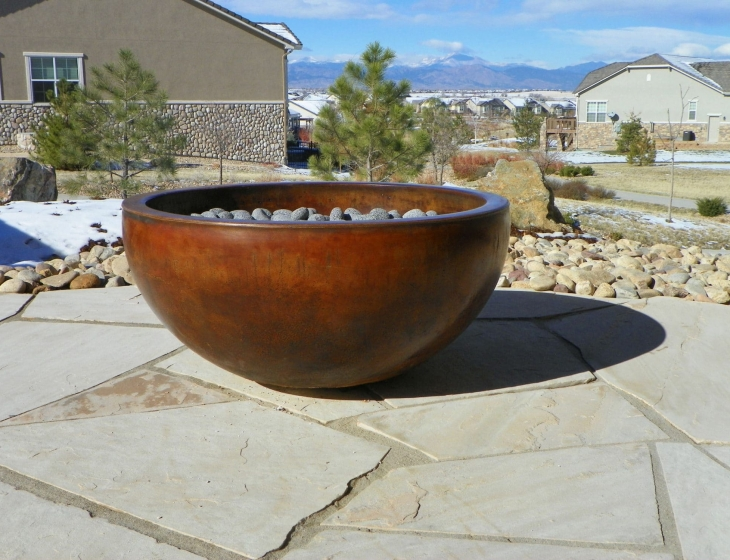 Broomfield concrete fire bowl