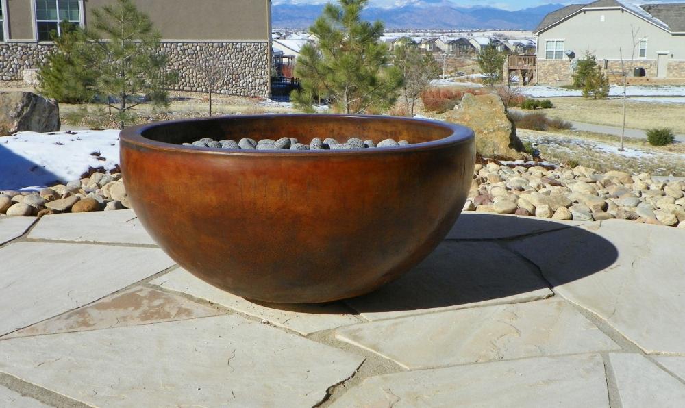 concrete firebowl