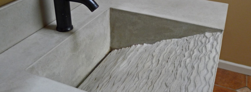 Concrete Pete Sink With Linear Drain