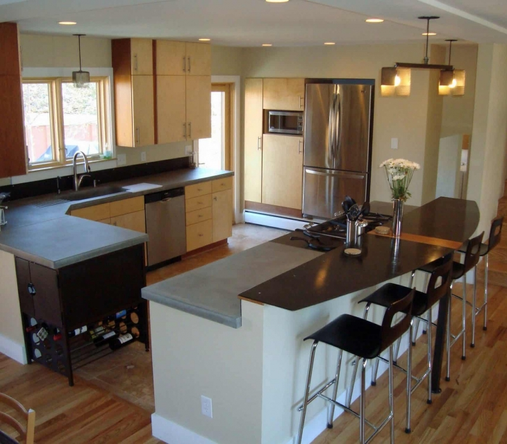 Boulder Concrete and steel counters