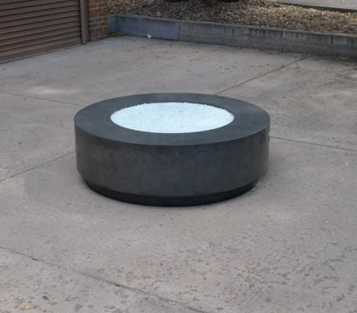 circular concrete fire pit