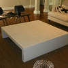white concrete coffee table