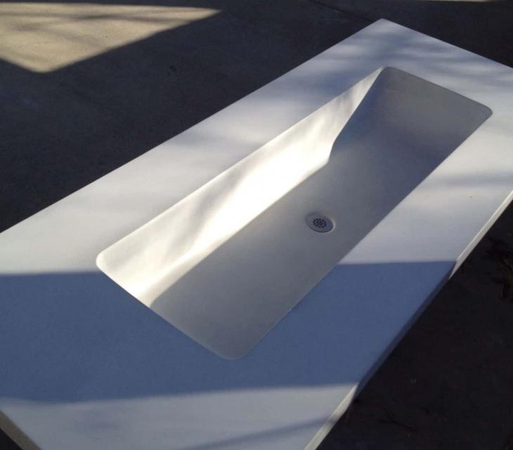 White Trough Sink